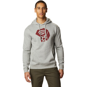 Mountain Hardwear Logo Hoody Heren, heather manta grey